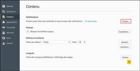 Gérer les notifications des sites web sous Firefox | Informatique TPE | Scoop.it