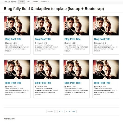 Pinterest stylepage Bootstrap page template for... | Bootstraptor FREE KIT update | Scoop.it