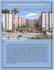 An Amazing Spring Greens Residential Projects in Lucknow | Residential Property in India | Scoop.it