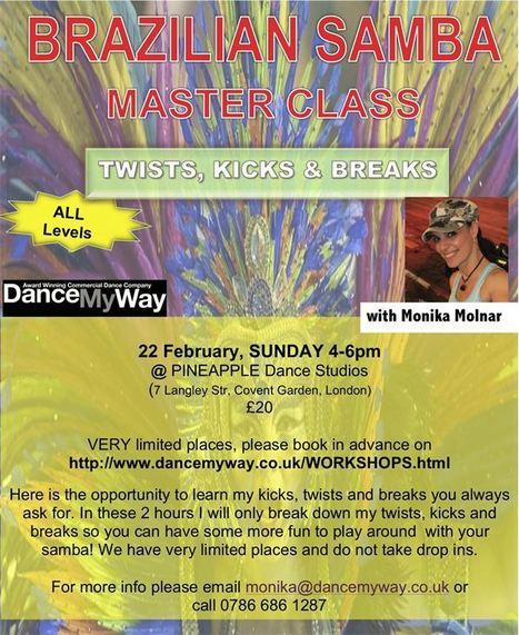 Get all levels of Brazilian samba with Monika Molnar | Dance with Brazilian Dancers | Scoop.it