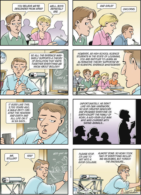 Doonesbury on teaching both sides: Evolution and creationism - Darwin's Bulldogs | Science vs Religion | Scoop.it