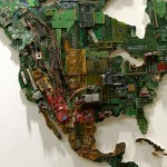 Enormous World Map Made from Recycled Computers by Susan Stockwell | Colossal | Socialart | Scoop.it