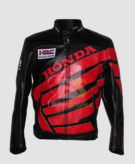 Honda Black & Red Brawny Biker Jacket can be use as party wear.   Honda Motorcycle Jackets   Scoop.it