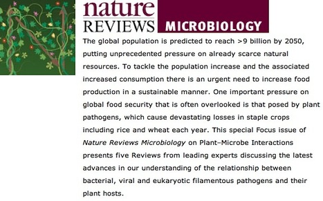 Nature Reviews Microbiology: Focus on Plant Microbe Interactions (2013) | Plant Breeding and Genomics News | Scoop.it