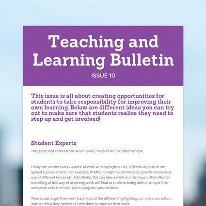 Teaching and Learning Bulletin | I Heart T&L | Scoop.it