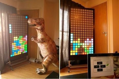 Giant Tetris Adds some Retro to your Room | Open Source Hardware News | Scoop.it