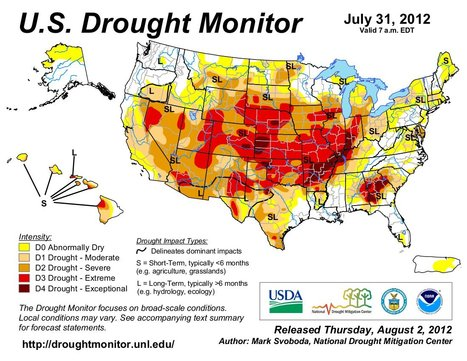 July 2012 Hottest Month Ever in U.S. | Geography Education | Scoop.it