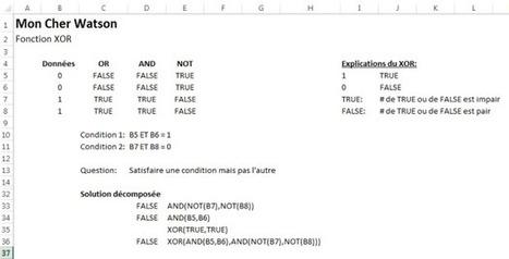 Fonction Excel : XOR | MSExcel | Scoop.it