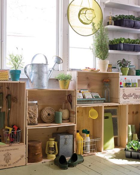 Vintage Wood Crates: Upcycled & Repurposed | Designing Interiors | Scoop.it