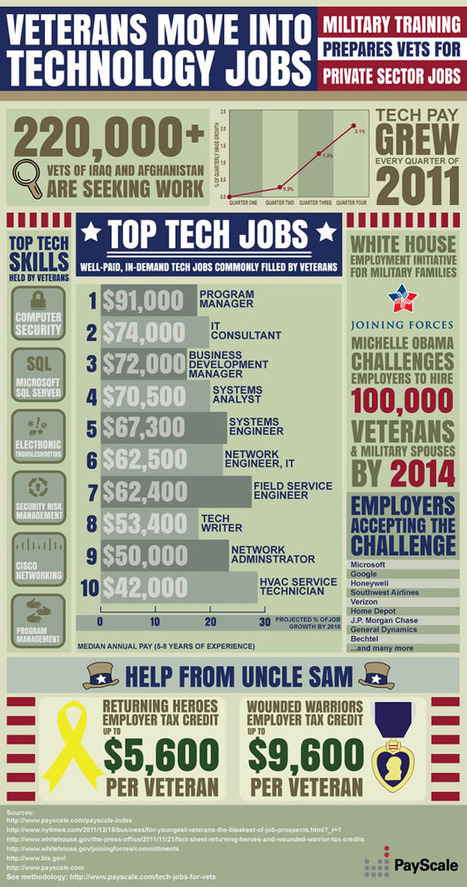 INFOGRAPHIC: The Top Paying Tech Jobs Filled By Veterans | Data Visualization for Social Media | Scoop.it