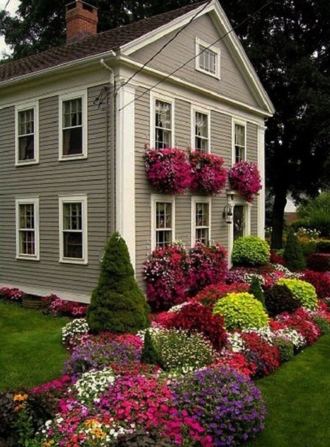 Colorful Front Yard Garden Design Ideas - Most Beautiful Gardens | Urban Gardening | Scoop.it
