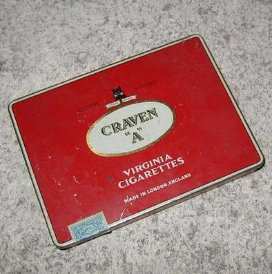 Boite de cigarettes Craven A | Collection de boite en fer | Scoop.it