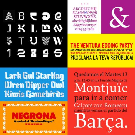 20 fuentes gratuitas de tipógrafos iberoamericanos   El Mundo del Diseño Gráfico   Scoop.it