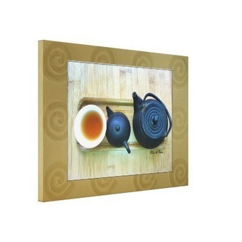 Tea Setting Photograph Overhead View Stretched Canvas Wrap | Z Photography | Scoop.it