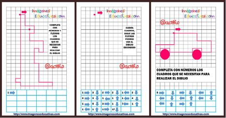 Atención: dibujamos en cuadricula contando cuadros y siguiendo flechas - Imagenes Educativas | Recull diari | Scoop.it