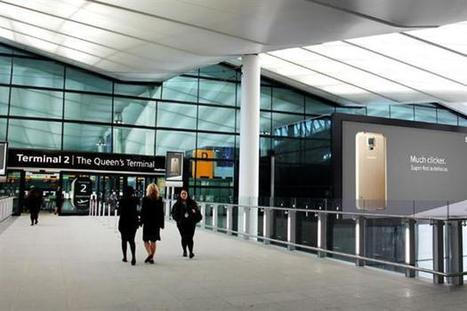 Burberry, Samsung and Vodafone advertise at Heathrow Terminal 2 | Advertising news | Campaign | Advertising, Marketing and Branding | Scoop.it