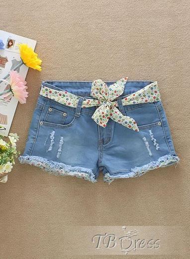 $ 9.79 Fascinating Korean Style Loose Shorts Jeans Slim Shorts   beauty   Scoop.it
