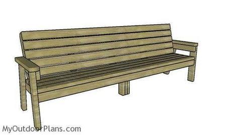 8 ft Bench Plans | MyOutdoorPlans | Free Woodworking Plans and Projects, DIY Shed, Wooden Playhouse, Pergola, Bbq | Garden Plans | Scoop.it