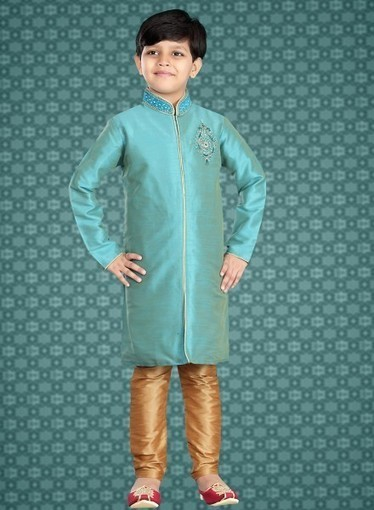 latest Kurta Churidar for Kids in Turquoise Color | Indian Ethnic Wear | Scoop.it