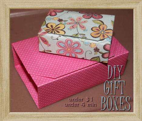 DIY Origami Gift Box - under $1 in under 4 Minutes! - My Personal Accent | Do It Yourself | Scoop.it