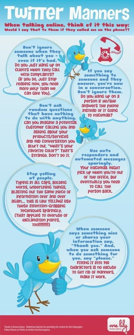 The Must-Have Guide To Twitter Manners [Infographic] | Social Media and its influence | Scoop.it