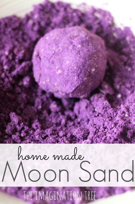 Home Made Moon Sand Recipe - The Imagination Tree | Learn through Play - pre-K | Scoop.it