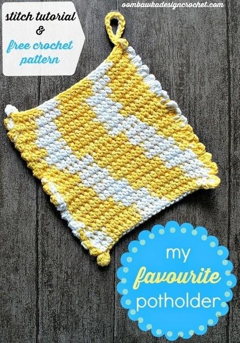My Favourite Potholder ~ Free Crochet Pattern and Tutorial #freepattern… | CrochetHappy | Scoop.it