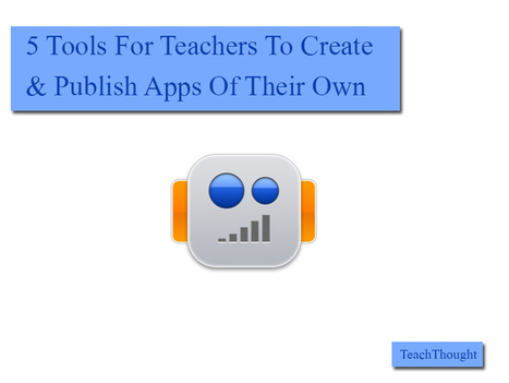 5 Simple Tools For Teachers To Create And Publish Apps Of Their Own - TeachThought | library | Scoop.it