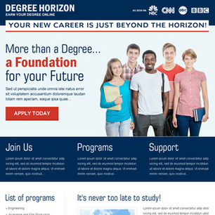 online education landing page design to promote your education website or service | Education | Scoop.it