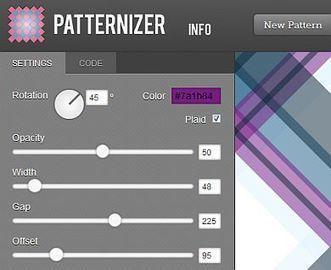 Créer des Pattern en ligne avec Patternizer | Alpha et Omega du Webdesign | Scoop.it