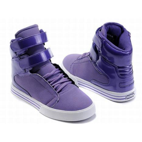 supra tk purple and white men high tops - supra tk society | popular list | Scoop.it