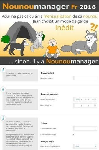 Nounoumanager Fr 2016 logiciel professionnel gratuit Gestion Contrats d'Assistants Maternelles | Logiciel Gratuit Licence Gratuite | Scoop.it