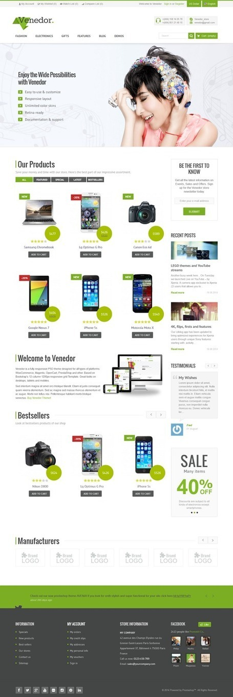 Venedor Premium Responsive Prestashop Theme - Download New Themes   Prestashop Themes and Other News   Scoop.it