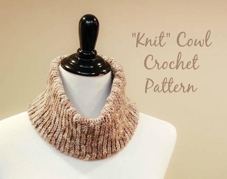 """Knit"" Crochet Cowl Pattern - Petals to Picots 