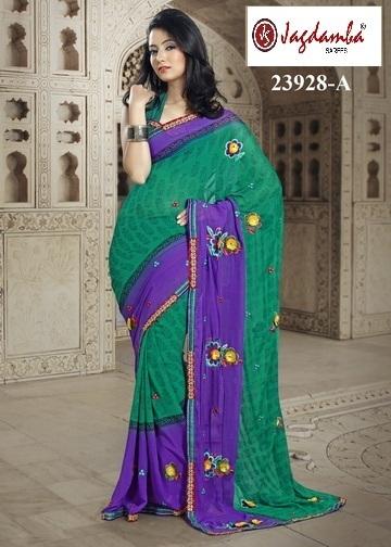 Cheap Chiffon Casual Sarees | Surat Sarees Online from JagdambaSarees | Scoop.it