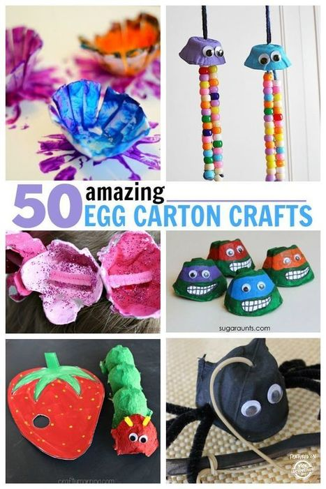 50 Amazing Egg Carton Crafts | Arts & Crafts | Scoop.it