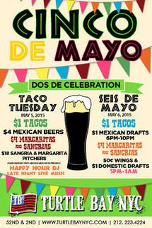 NYC Cinco de Mayo Events, $1 Tacos, $4 Margaritas | Best Bars Midtown NYC | Scoop.it