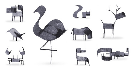 [graphic] Calligraphy Animals by Andrew Fox | [graphic + web design] - typography, ergonomy & visual identity | Scoop.it