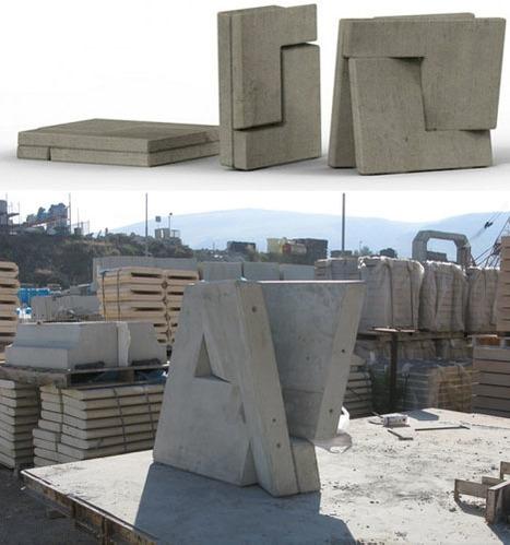 Folding Concrete?! Flat-Pack Building Blocks of the Future | Designs & Ideas on Dornob | Rendons visibles l'architecture et les architectes | Scoop.it
