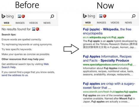 Bing permet la recherche par Emoji - Actualité Abondance | La Veille Web de Sandra | Scoop.it