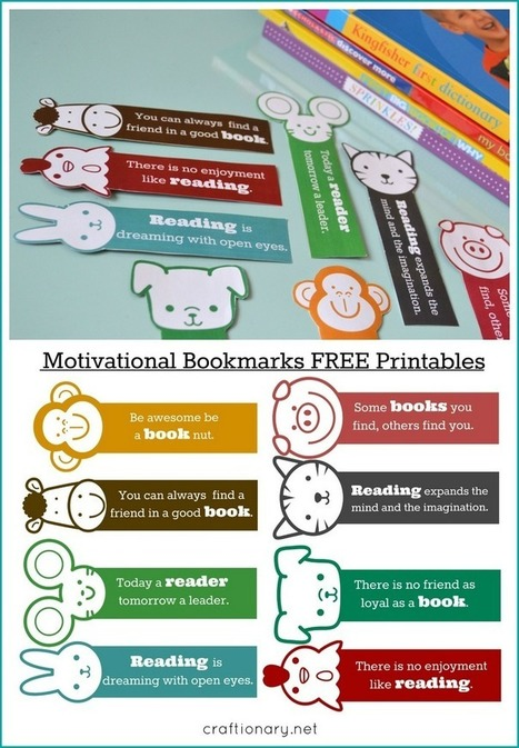 DIY Motivational Bookmarks for kids - Free Printable - Craftionary | Banco de Aulas | Scoop.it