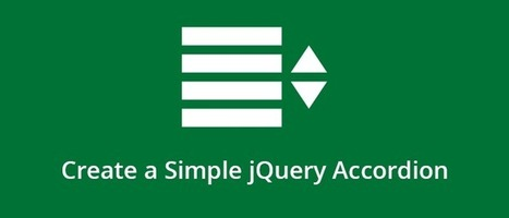 How to Create a Simple jQuery Accordion | Web Design | Scoop.it