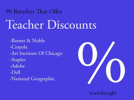 90 Retailers That Offer Teacher Discounts | Ed Tech | Scoop.it