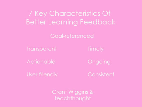 7 Key Characteristics Of Better Learning Feedback | 21st Century Education - designing teaching and learning | Scoop.it
