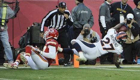 Broncos' Knowshon Moreno Cries Rivers During National Anthem - Predominantly Orange | J585 Team Calvert | Scoop.it
