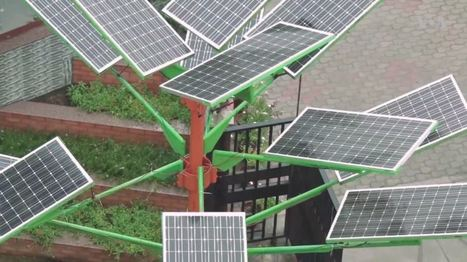 "Indian Scientists Design Solar Tree to Save Space for Solar Power Generation (""1% of usual space"") 