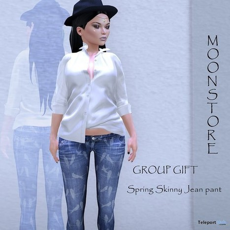 Spring Skinny Jeans Group Gift By Moonstore | Teleport Hub - Second Life Freebies | Second Life Freebies | Scoop.it