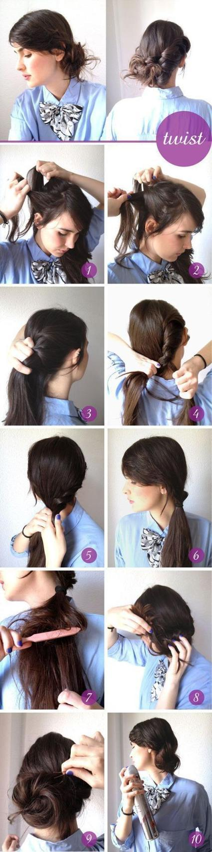 Easy & Cute Quick Do Hairstyles for Long Hair - 2014 | Mission Aveda Salon | Scoop.it