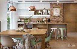 Du bois, du cuivre et du vert menthe dans un intérieur | picslovin | Scoop.it