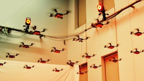 Flying robots flip, swarm and move in formation at UPenn | Technoculture | Scoop.it